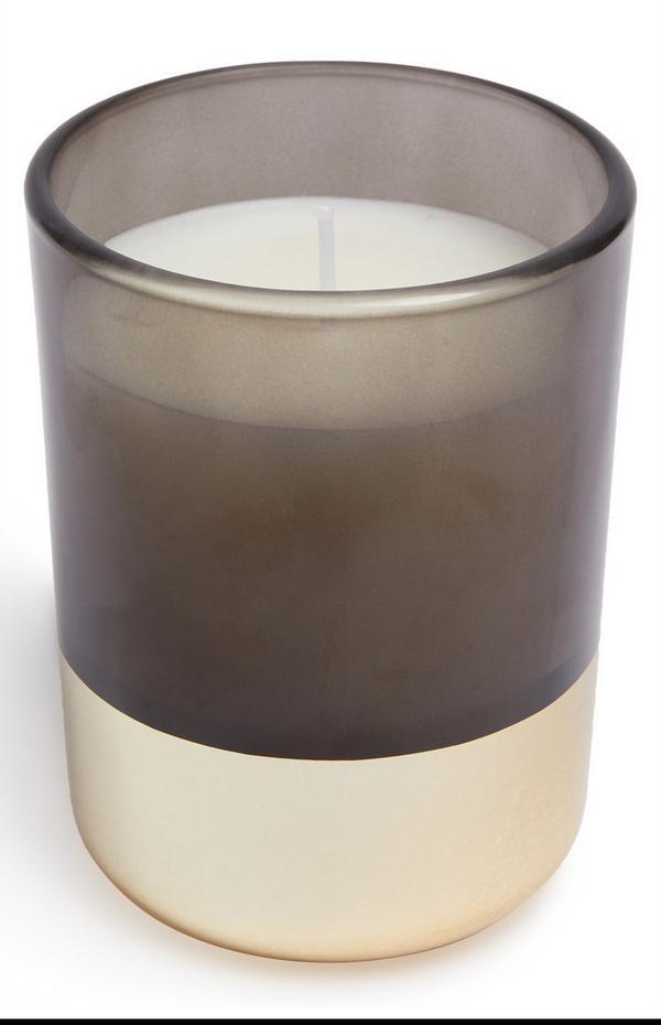 Gold Base Smoky Votive Candle