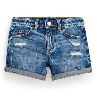 Younger Girl Blue Denim Ripped Shorts