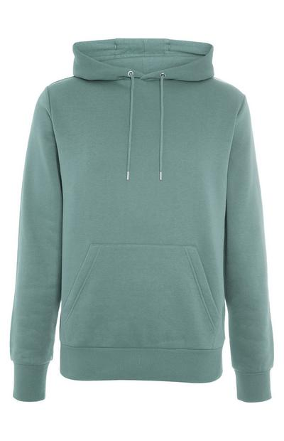 Basic Green Pull Over Hoodie