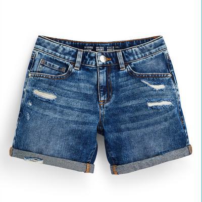 Blauwe gescheurde short van spijkerstof voor meisjes