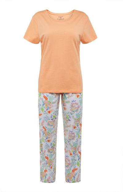 Pijama multicolor con estampado floral