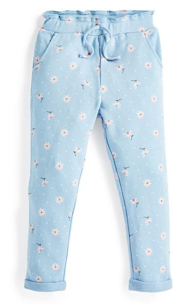 Younger Girl Blue Daisy Joggers