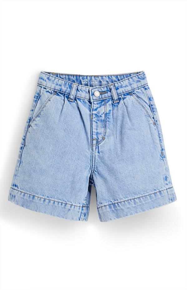 Blauwe bermudashort van spijkerstof voor meisjes