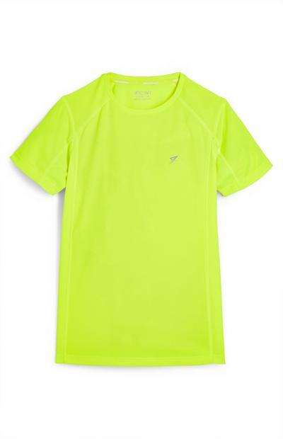 T-shirt verde lime fluo da ragazzo