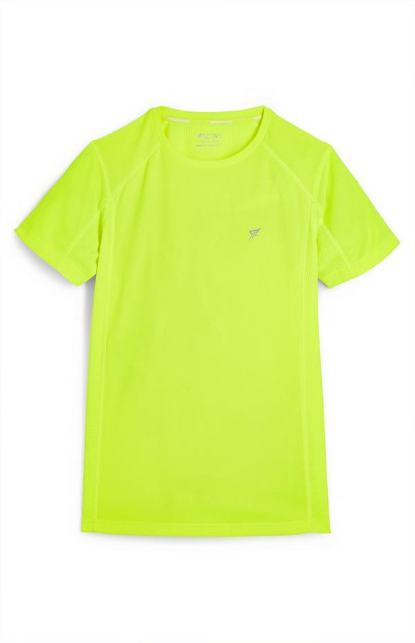 T-shirt de sport citron vert fluo ado