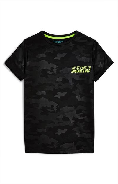 Older Boy Camo Active T-Shirt