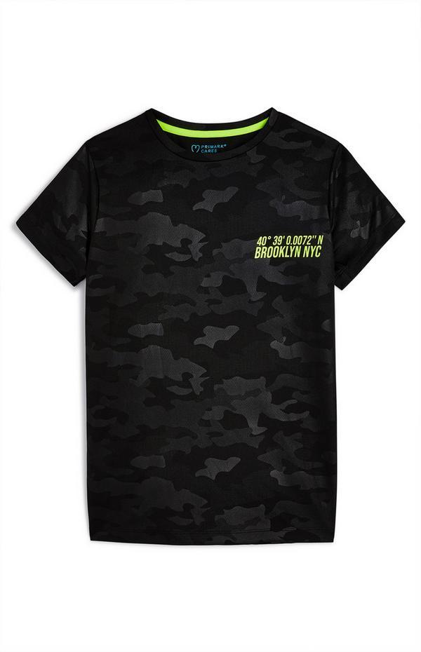 T-shirt de sport à motif camouflage ado