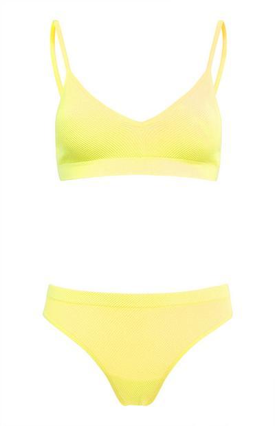 Yellow Seamfree Lingerie Set