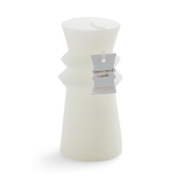 White Pillar Shaped Candle