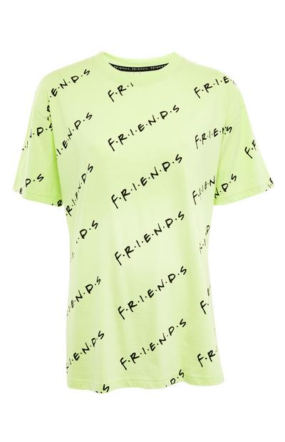 Camiseta extragrande verde lima con estampado de «Friends»