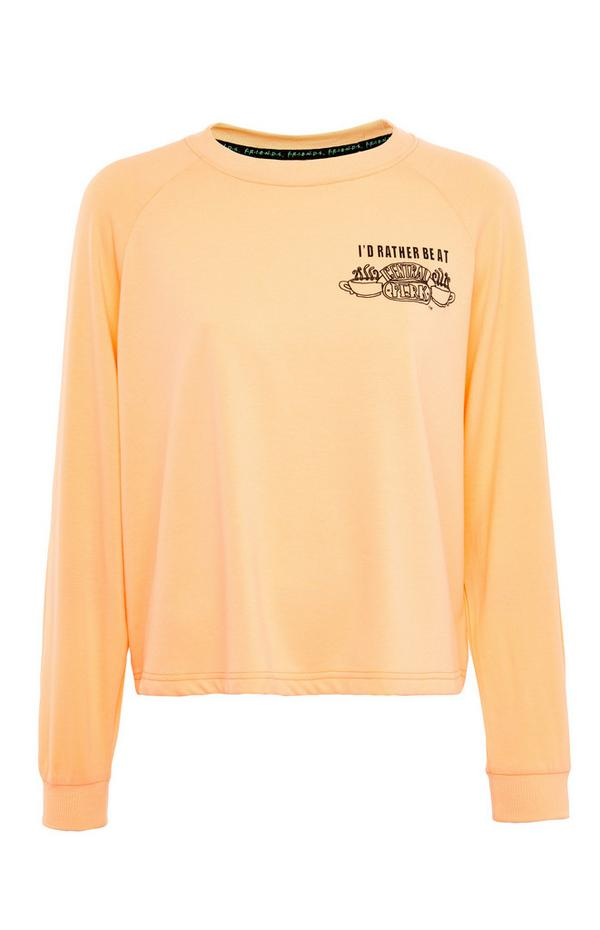 Sweat-shirt d'intérieur pêche Friends Central Perk