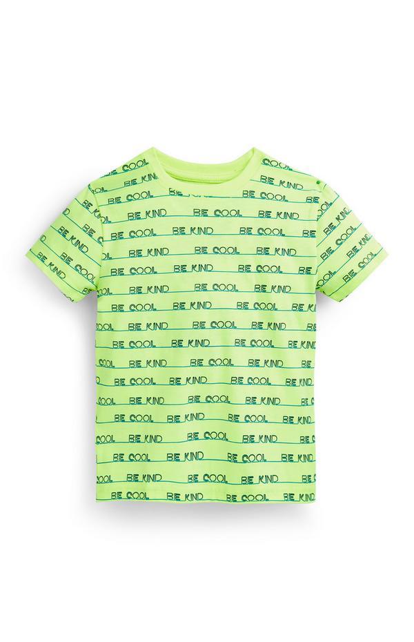 """Lindgrünes """"Be Kind"""" T-Shirt (kleine Jungen)"""