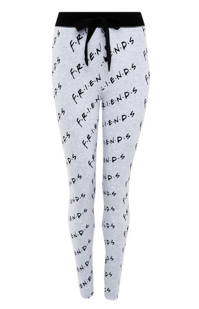 Leggings grises con estampado de «Friends»
