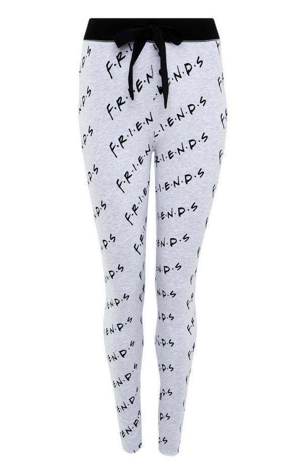 Legging gris à imprimé Friends