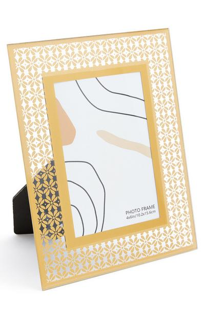 Metallic Print Glass Frame