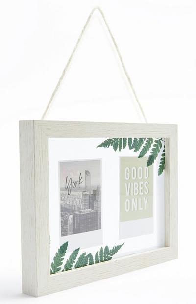 Cornice piccola con stampa a foglie