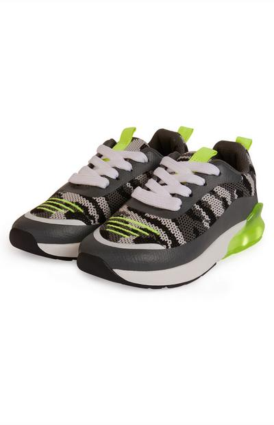 Younger Boy Grey Light Phylon Trainers