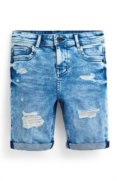 Blaue Jeansshorts im Used-Look (Teeny Boys)