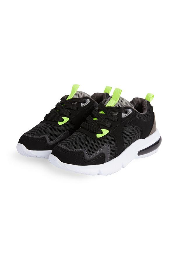 Younger Boy Black Neon Sneakers