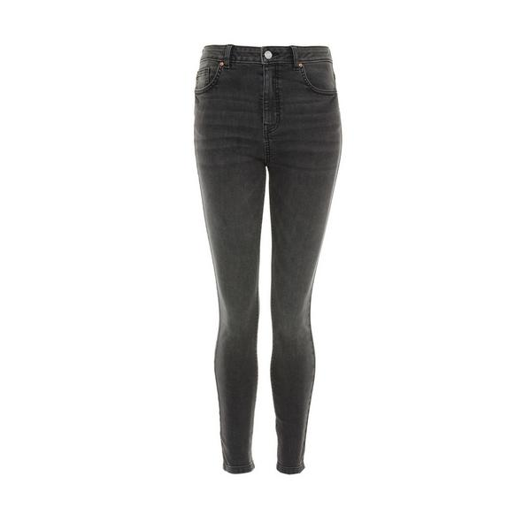 Charcoal Wash Authentic High Waist Skinny Jeans