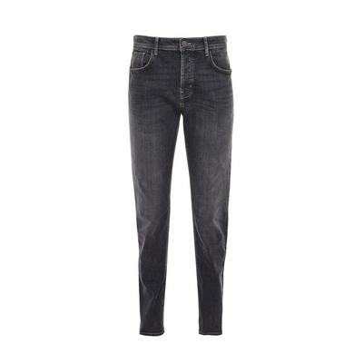 Graue Slim-Fit-Jeans mit Stretch