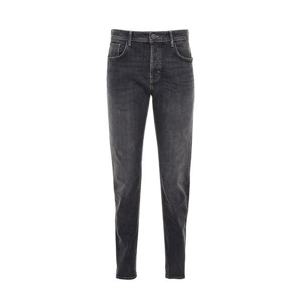 Grey Wash Denim Slim Stretch Jeans