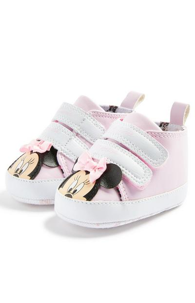 Baby Girl Pink Disney Minnie Mouse Low Top Trainers