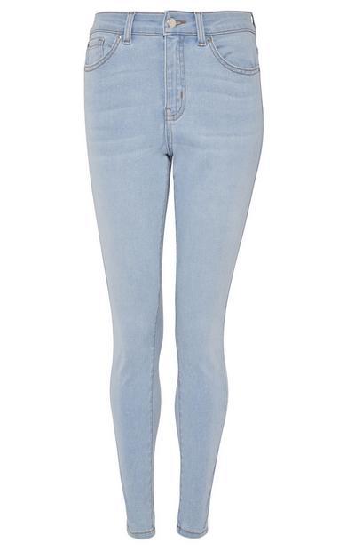 Skinny Jeans mit Super-Stretch und heller Waschung