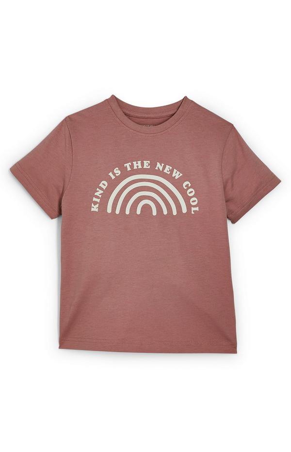 """""""Kind Is The New Cool"""" T-Shirt in Altrosa (Teeny Boys)"""