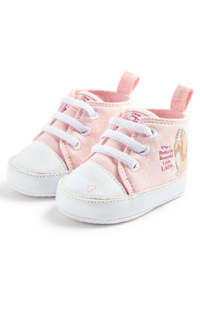 Baby Girl Pink Disney Lady High Top Trainers