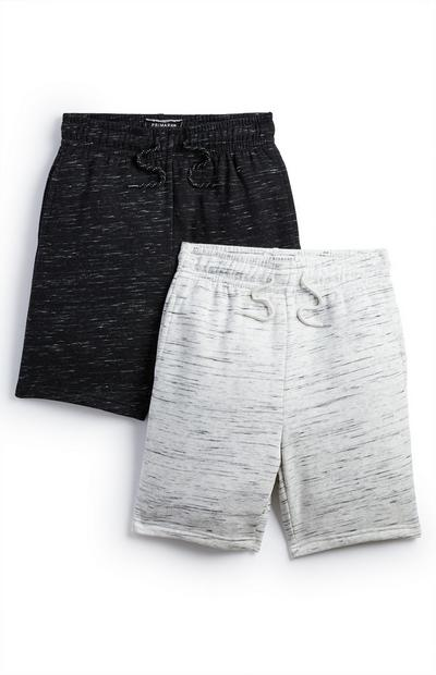 2-Pack Older Boy Black And Gray Jersey Shorts
