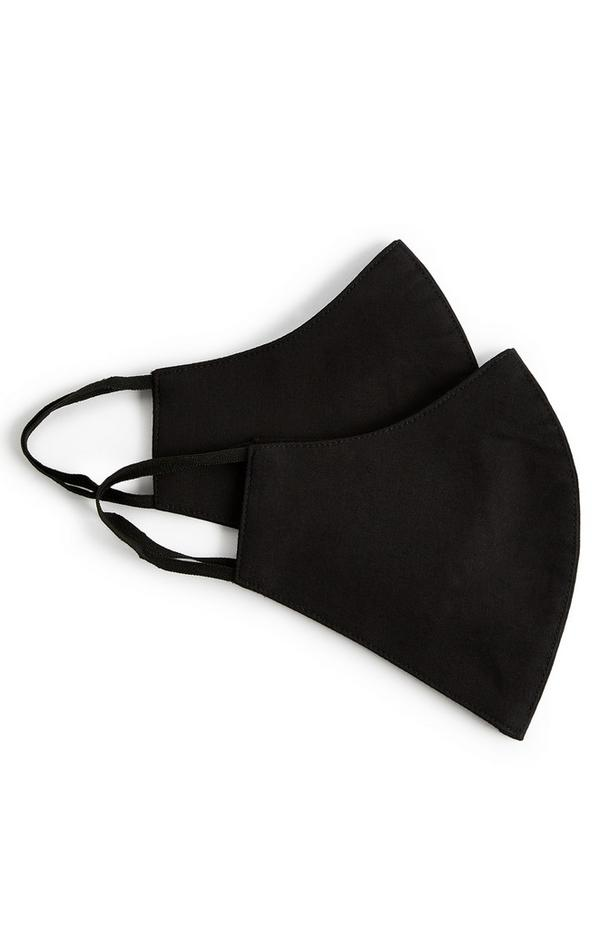 Pack de 2 mascarillas negras