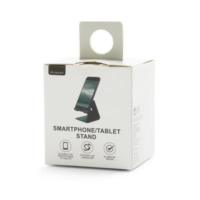 Schwarzer Handy- und Tablet-Ständer