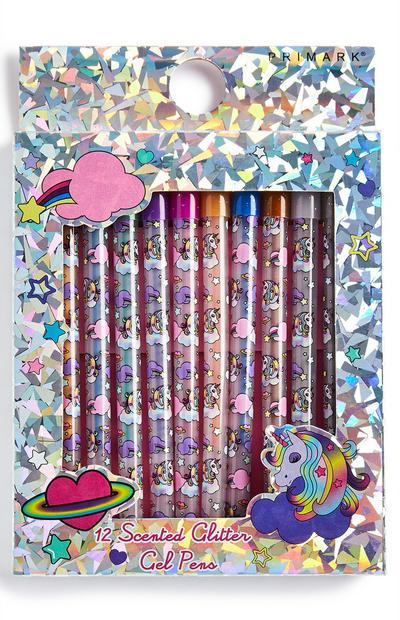 Lot de stylos gel licorne