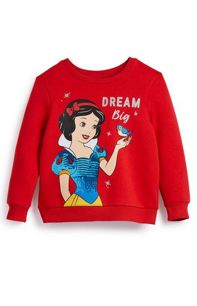 Younger Girl Red Disney Snow White Crew Neck Sweater