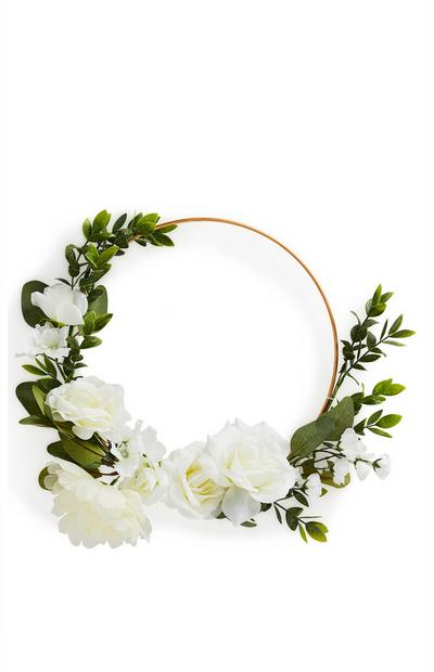 White Faux Flower Wreath