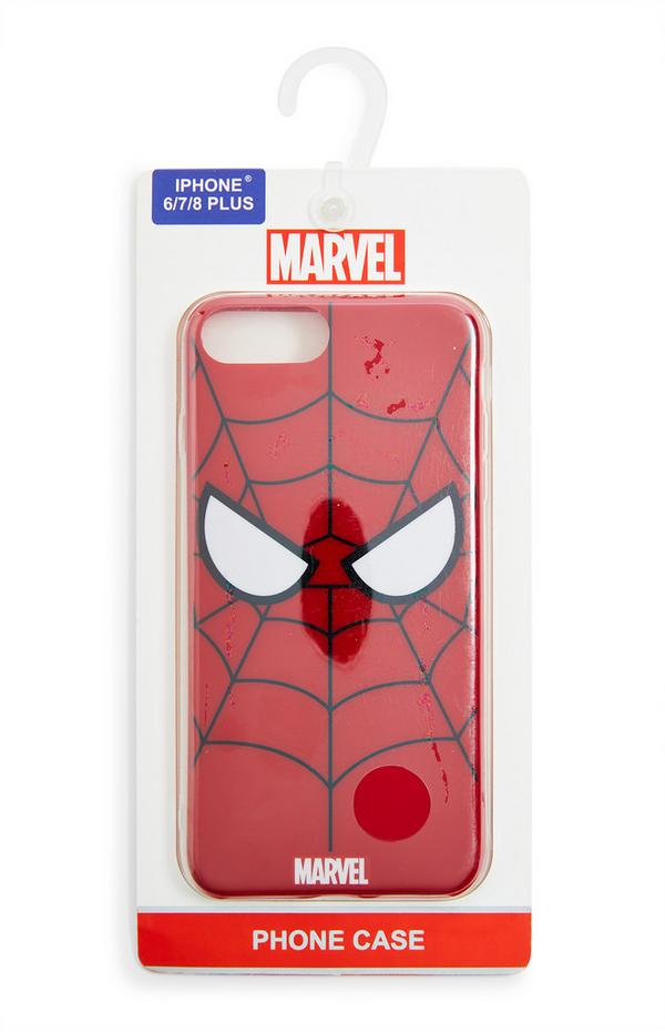 Carcasa para el móvil roja de Spiderman de Marvel