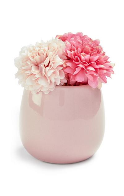 Pink Mini Faux Flower Pot