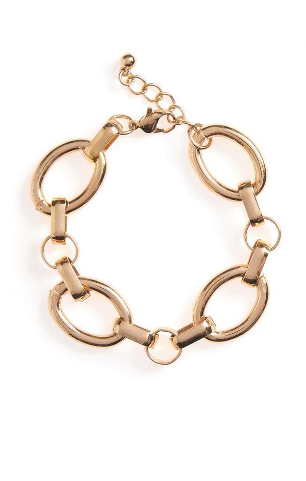 Large Goldtone Link Chunky Bracelet