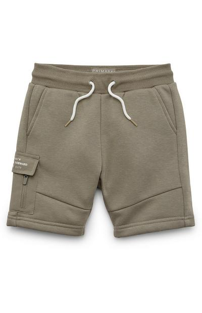 Younger Boy Khaki Cargo Pocket Shorts