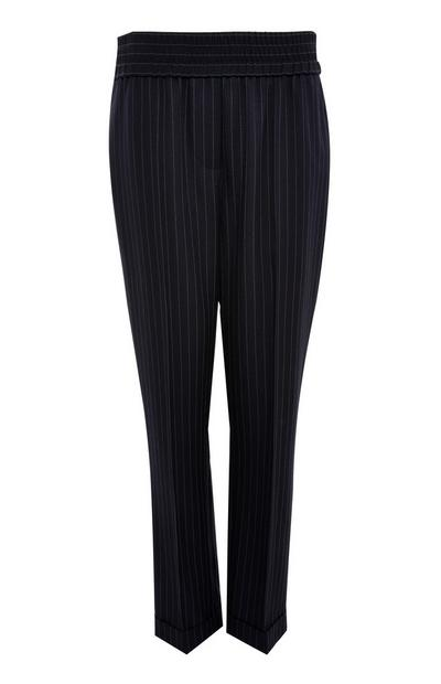 Black Pinstitch Pattern Joggers