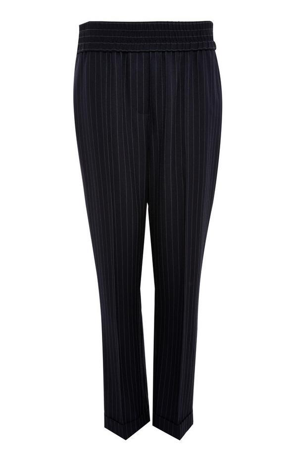Calças treino padrão pespontos preto