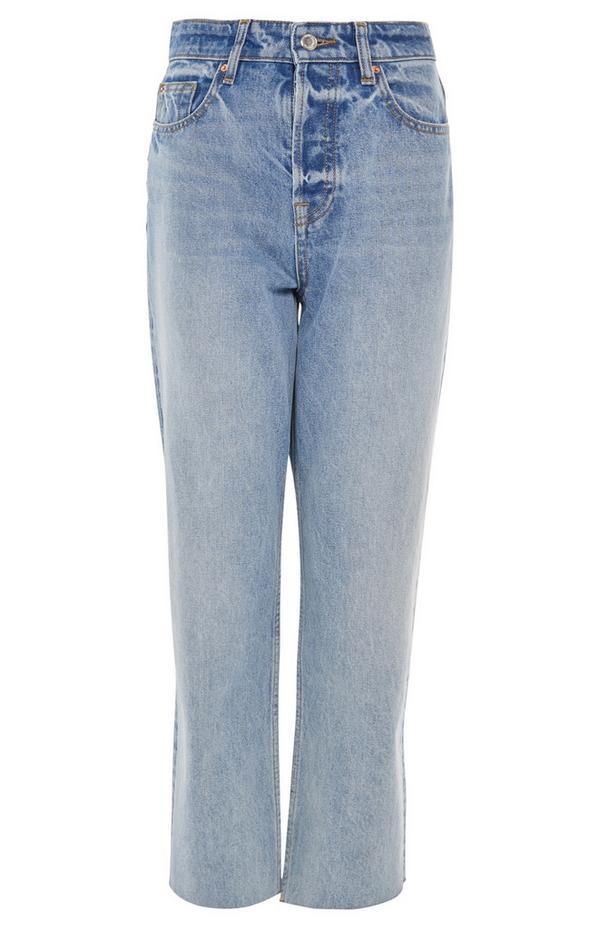 Blue New Straight Leg Jeans