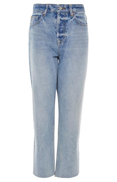 Blue New Straight Leg Jeans
