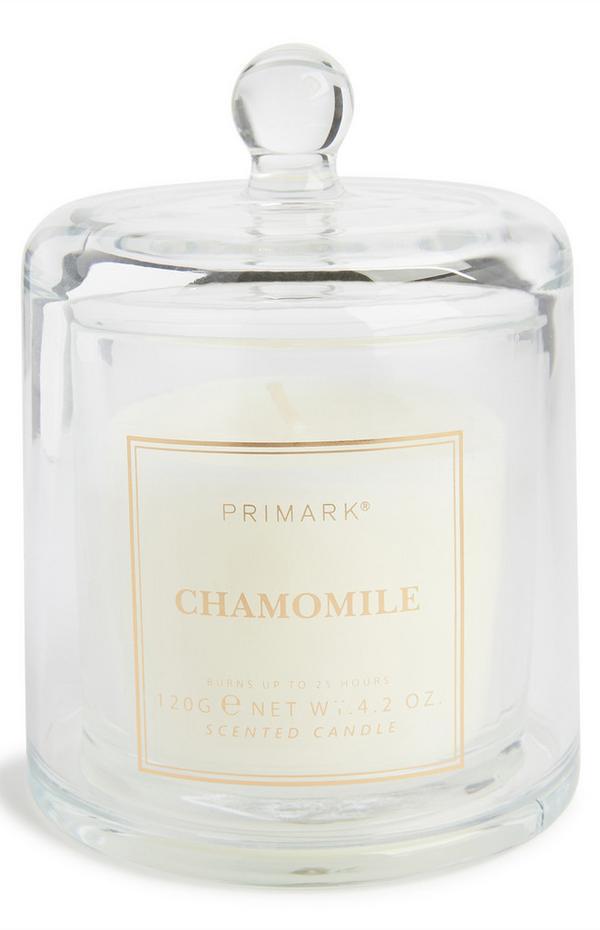 Sveča v zvonastem kozarcu z vonjem Chamomile