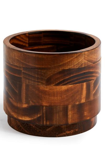 Cache-pot marron en bois