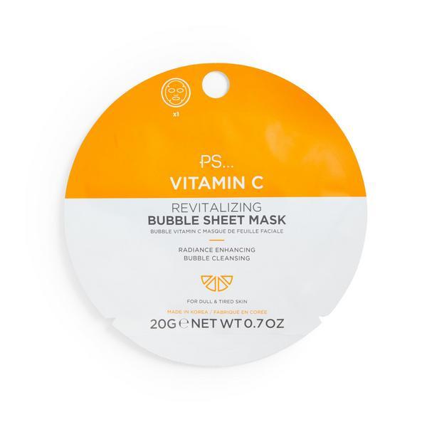 Verkwikkend schuimend sheetmasker met vitamine C