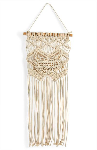 Large Ivory Macrame Wall Hanging