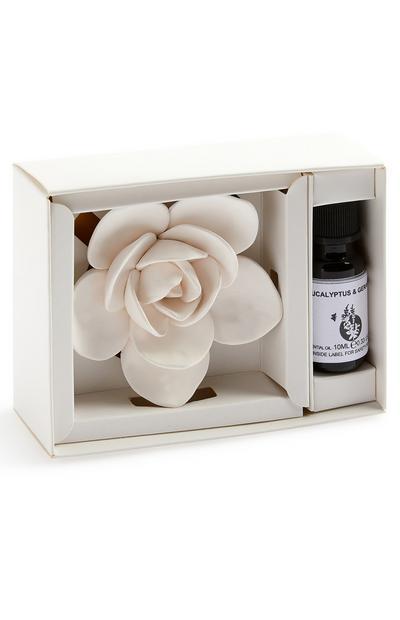 Difusor óleo cerâmica floral