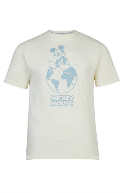 T-shirt écru Mickey Mouse à motif planète Primark Cares Disney